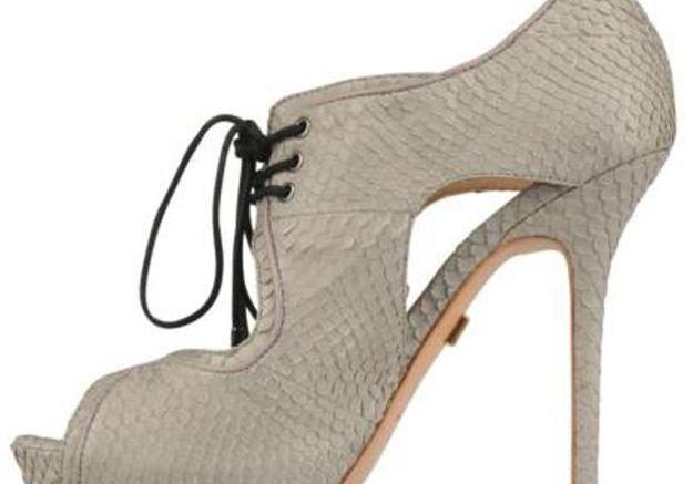 Sandales à plateau à lacets