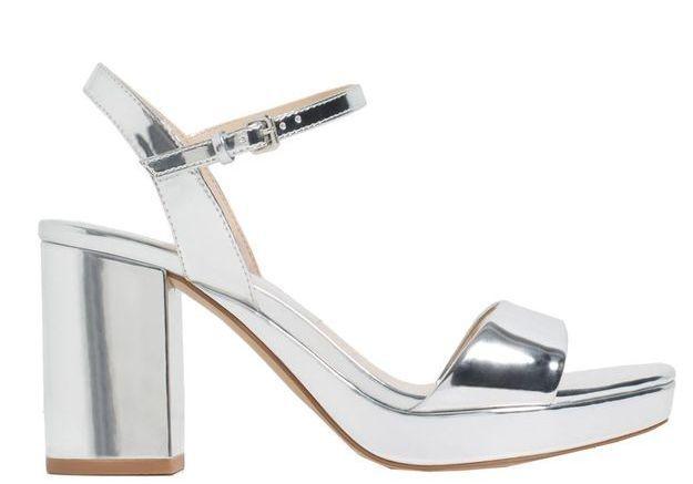 Sandales à plateau argentées
