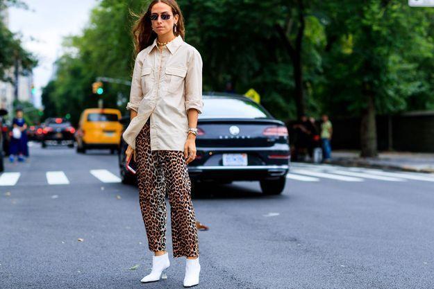 Un pantalon léopard