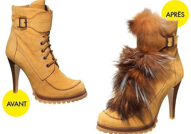 Mode do i yourself customisation boots fourrure boots lacet