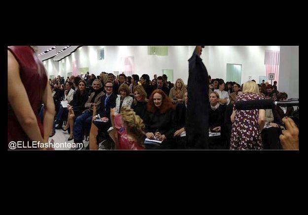 Défilé Dior : premier rang