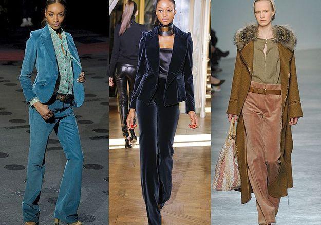 Mode tendance look defiles paris Doux velours