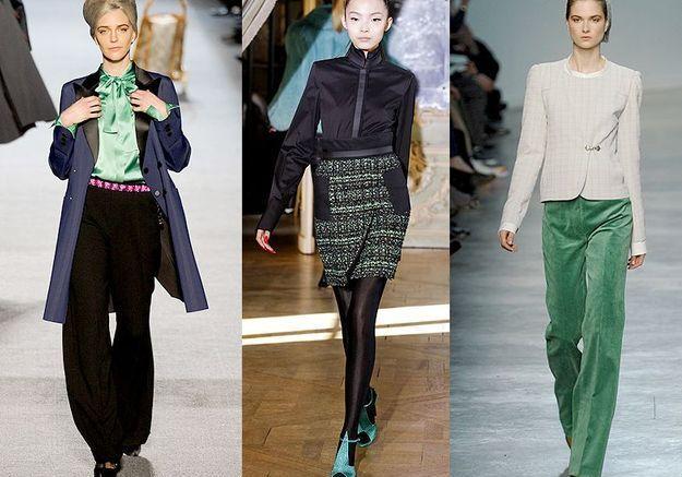 Mode tendance look defiles paris Green touch