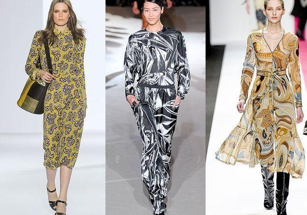 Mode tendance look defiles paris Les imprimes foulard