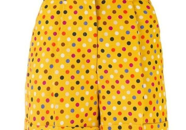 Short jaune safran Rossella Jardini