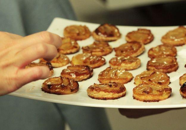 Les tartelettes aux pommes ont elles aussi séduit hier soir.