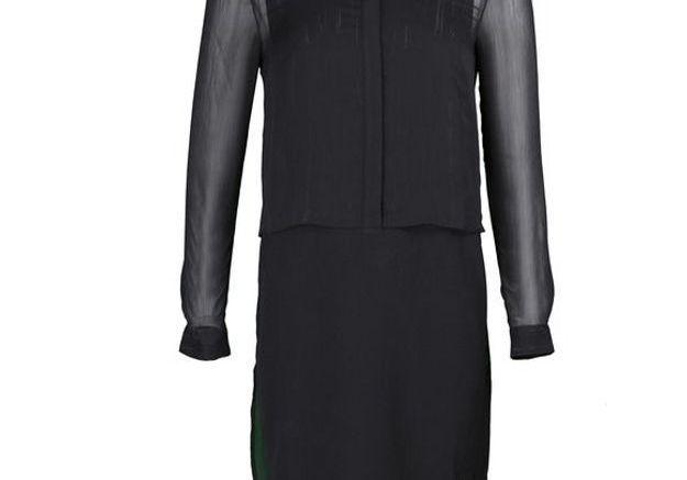 Robe noire bi matière LPB