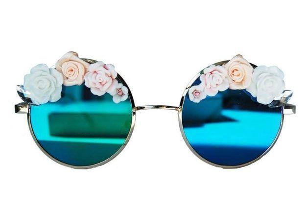 Lunettes de soleil fleuries Pink Roses Bana Sunglasses