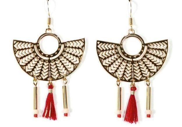 Boucles d'oreilles pendantes BO2 Nile Mademoiselle Aime