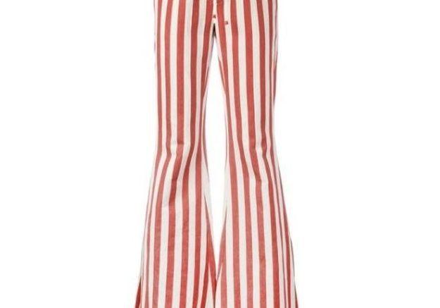Jean de couleur rouge rayé Roberto Cavalli