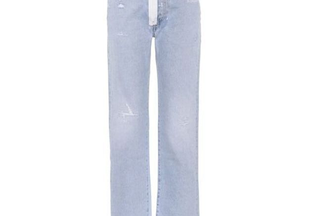 Jean taille haute à fermeture Off White