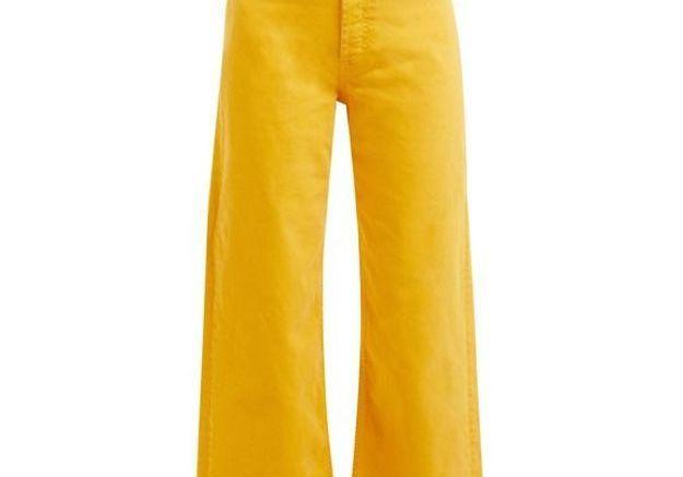 Jean taille haute jaune M I H Jeans