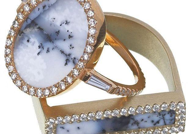 Bague couleur avec diamants