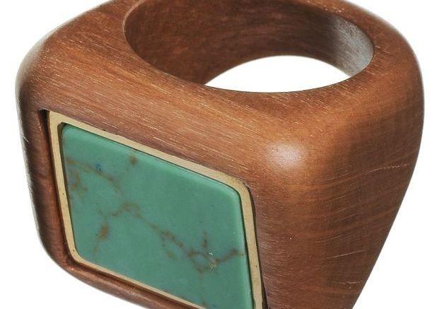 Bague couleur en bois