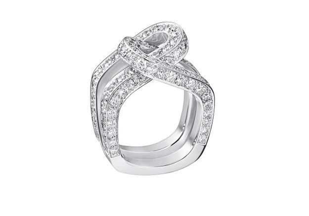 Bague diamant et or blanc Dinh Van