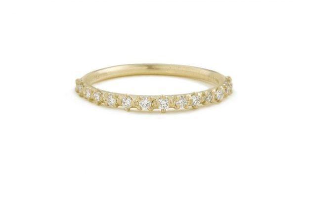 Bague diamant et or jaune Shihara Joaillerie