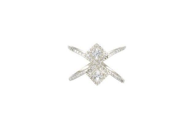 Bague diamant et saphirs Rachel Boston