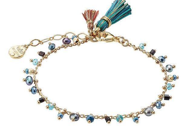 Bracelet à charms avec perles et pampilles