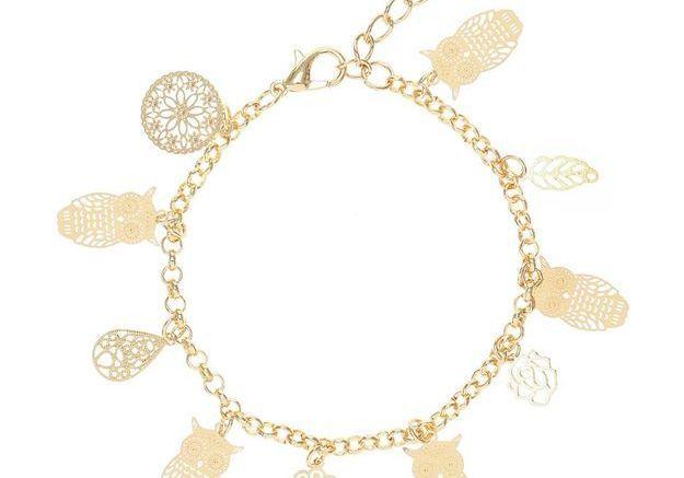 Bracelet à charms chouette