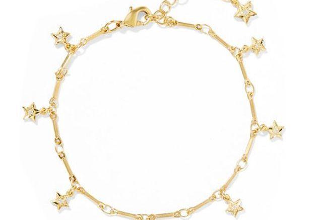 Bracelet à charms en plaqué or