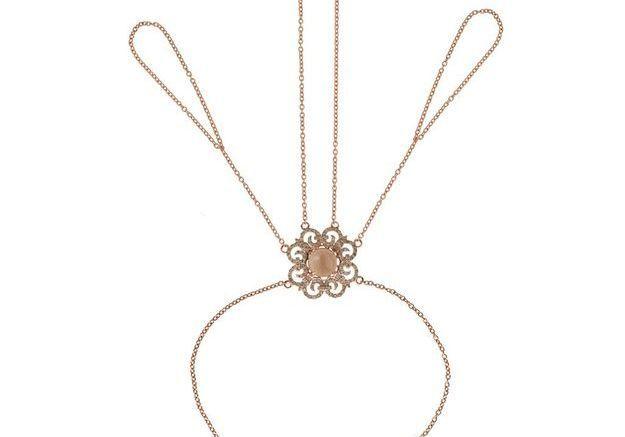 Bracelet de main et bagues en diamants Elise Dray