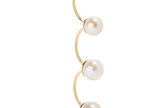 Grosses boucles d'oreilles à perles Delfina Delettrez
