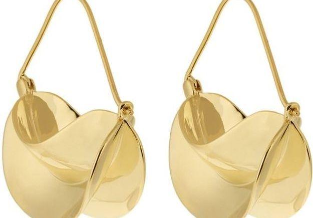 Grosses boucles d'oreilles dorées Anissa Kermiche