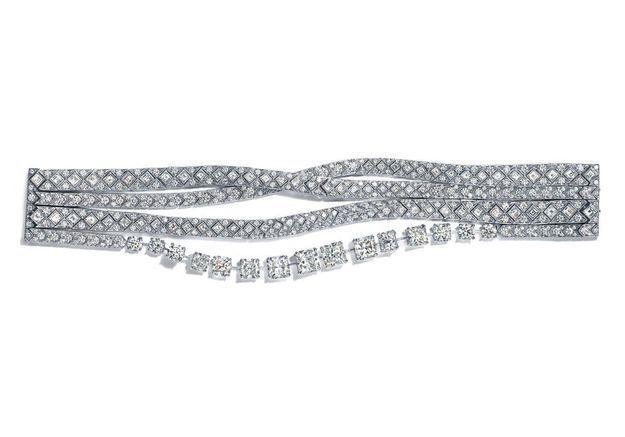 Bracelet en diamants Tiffany Ribbons