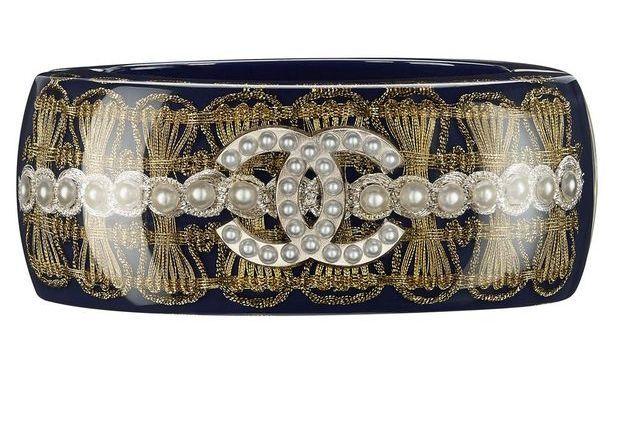 Bracelet en résine bleue marine Chanel Métiers d'art Paris-Salzbourg 2014/2015