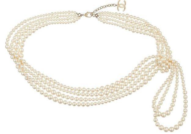 Ceinture de perles multi rangs Chanel Métiers d'art Paris-Salzbourg 2014/2015