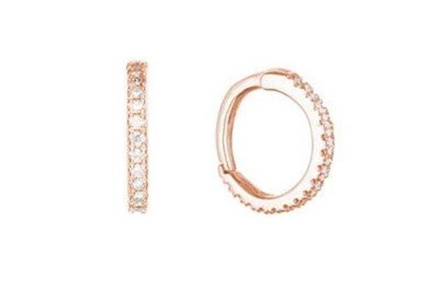 Mini-créoles pavées de diamants Stone
