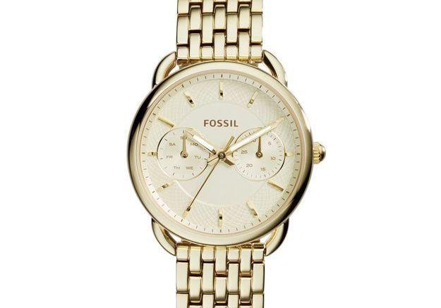 Montre dorée Fossil