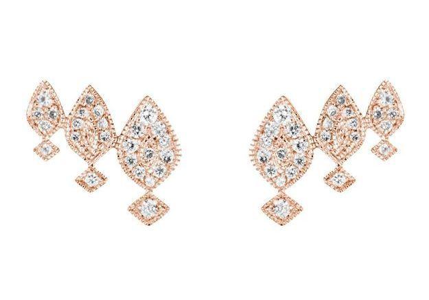 Boucles d'oreilles en or rose Stone Paris