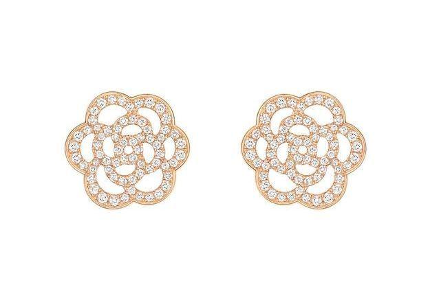 Boucles d'oreilles or rose Chanel Joaillerie