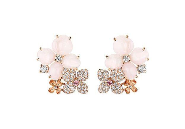 Boucles d'oreilles or rose Chaumet