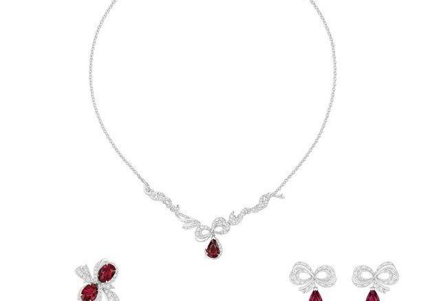 Parure bijoux or blanc Dior Joaillerie