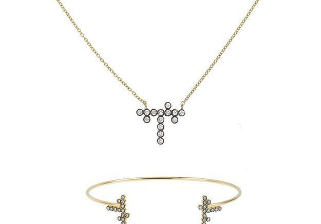 Parure bijoux or jaune Yannis Sergakis