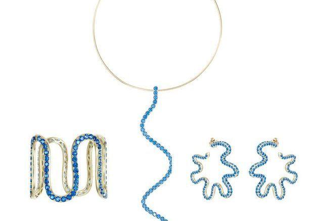 Parure bijoux topaze Sabine Getty