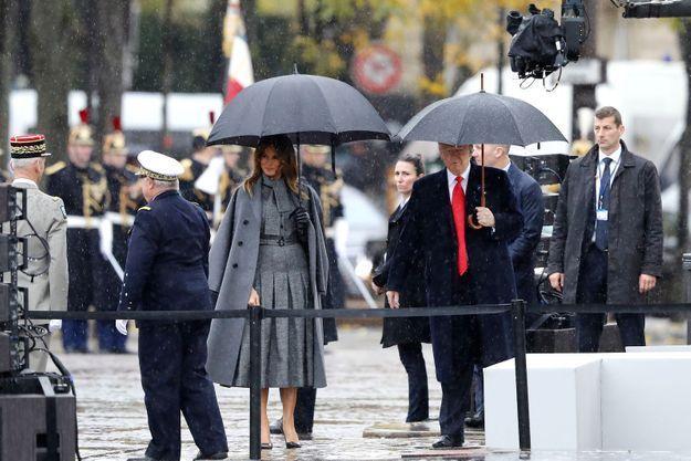 Melania Trump arrive sur les Champs Elysées