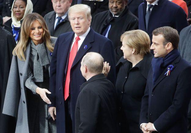 Melania Trump salue Vladimir Poutine