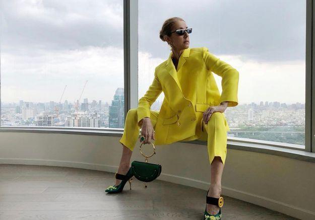 Les chaussures Prada de Céline Dion