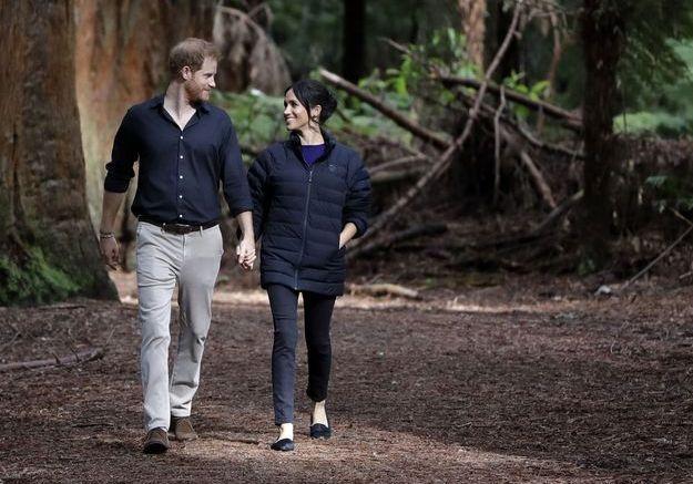 Balade en forêt pour le couple royal
