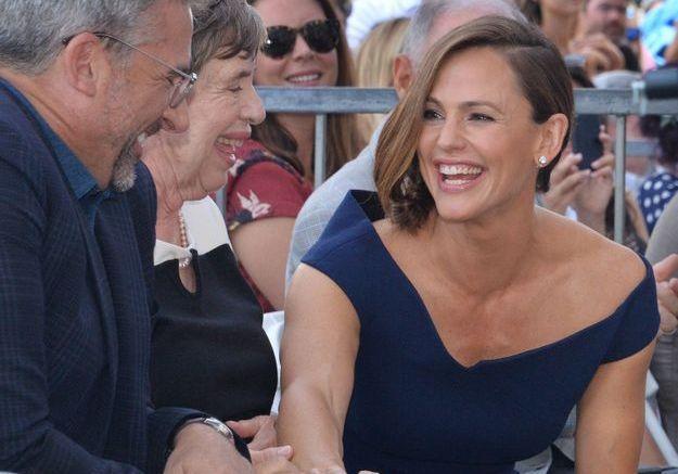 Jennifer Garner sur son étoile au Hollywood Walk Of Fame