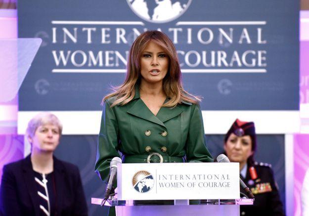 Melania Trump donne le ton du printemps avec cet imprimé à croquer