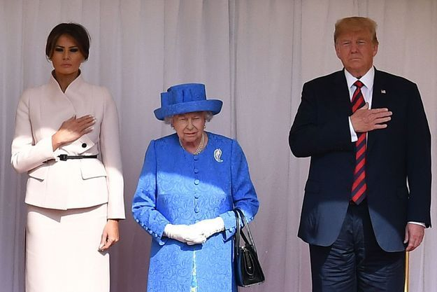 Melania Trump, Elizabeth II et Donald Trump