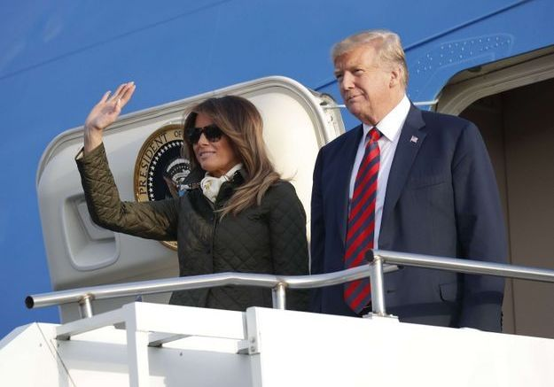 Melania Trump et Donald arrivent en Ecosse