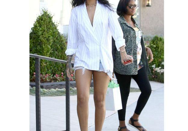 La veste pyjama de Rihanna