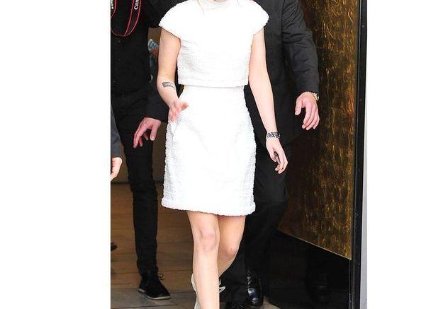 Le total look blanc de Kristen Stewart