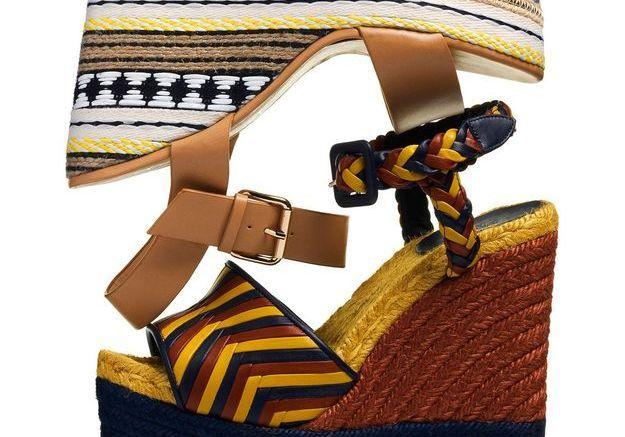 Sandales compensées mode ethnique