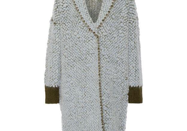 Manteau en laine bouclée, Elizabeth & James